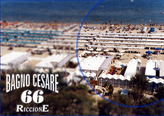 Bathing Zone Cesare 66 Riccione, Beach, Sea | Bagno Cesare 66